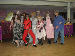The entire Thriller Zombie Gang