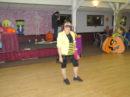 Winner:  Best Overall Costume:  Bumble Bee Sandy Goodman