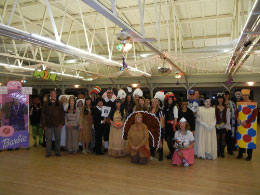 Group picture of all those in costume
