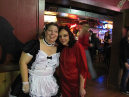 The (she) devil having a fun conversation with the french maid!