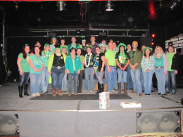 Pictured here are those that wore green!