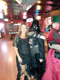 Saloon Girl (Claire) and Darth Vader (Kimberly)